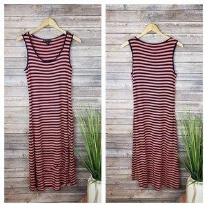 4/$20 Design History Pink & Blue Midi Dress Size S